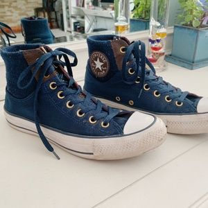 Limited Edition Navy Converse High Tops
